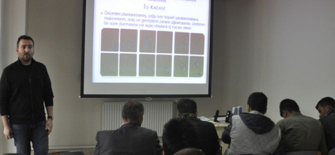Tunceli'de riskli meslekte çalışanlara iş güvenliği kursu veriliyor