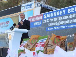 Gaziantep'te çiftçiye büyük destek